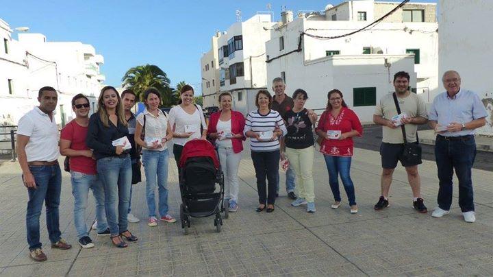 precampaña PSOE Lanzarote 20D