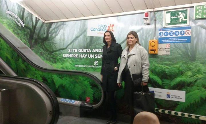 Senderos de Canarias en el Metrode Madrid