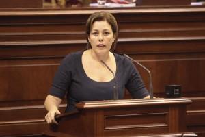 Astrid-Pérez-en-el-Parlamento-de-Canarias