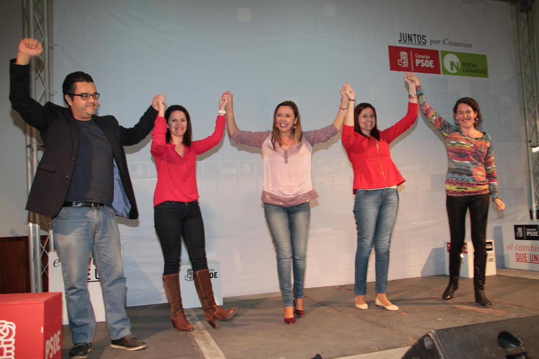Mitin PSOE de cierre de Campaña 20 D (1)