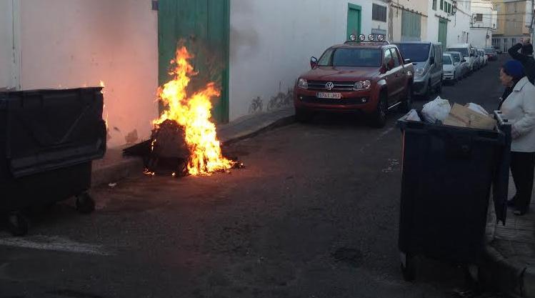 contenedor calle chile