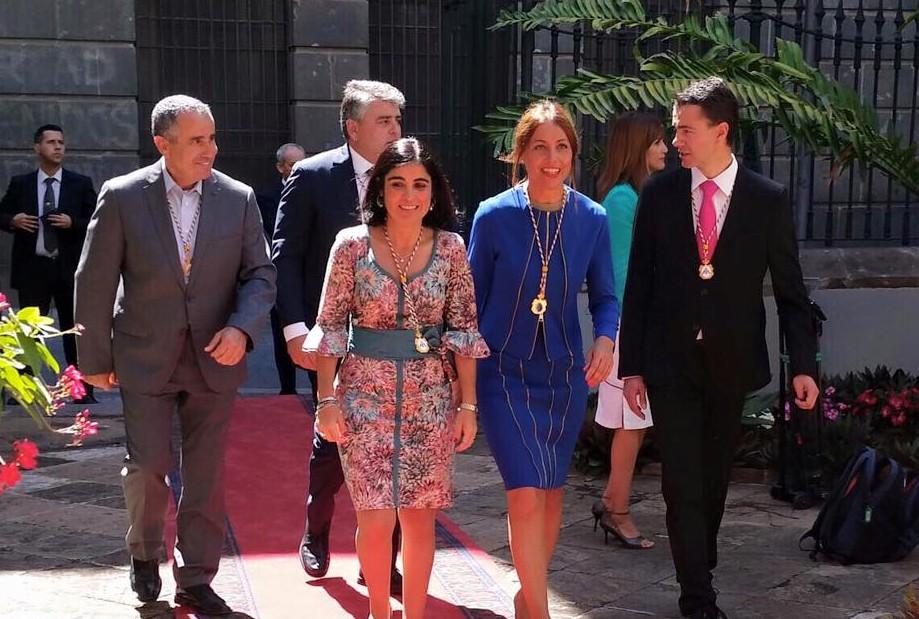 Miembros de la Mesa del Parlamento de Canarias.