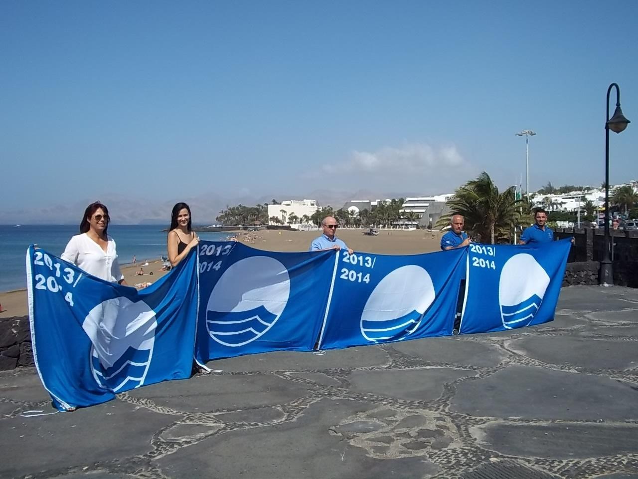 Tías ha vuelto a renovar las cuatro banderas azules con las que contaba.