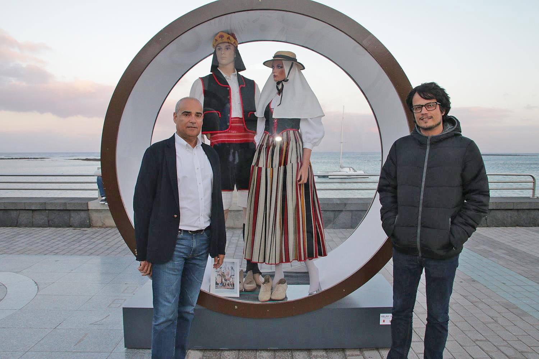 Los responsables de Cultura del Cabildo y Ayuntamiento de Arrecife, Óscar Pérez y Rafael JUan González.
