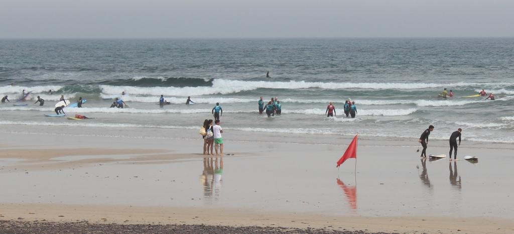Imagen de esta mañana de la Playa de Famara.