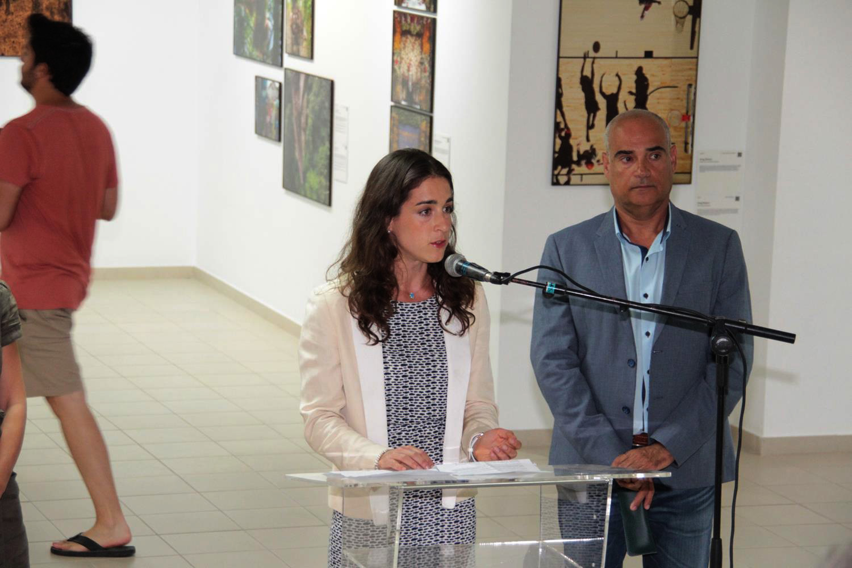 Babette Warendorf junto a Rafael Juan González.