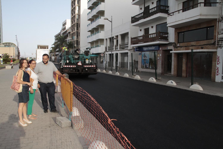 obras de asfaltado del parque Islas Canarias (12)