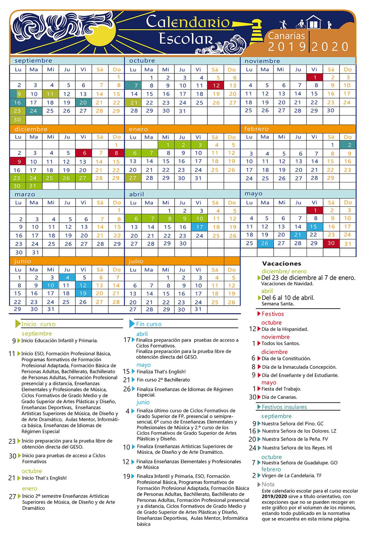 Calendario Vacaciones.Ya Puedes Consultar El Calendario Escolar De Canarias Para El Curso
